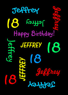 Personalized Greeting Card 18th Birthday