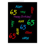 Personalized Greeting Card, 65th Birthday