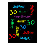 Personalized Greeting Card Any Name, Age, Occasion Card