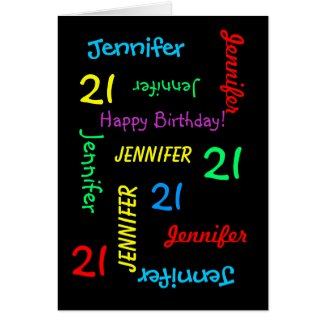 Personalized Greeting Card Any Name, Age. Occasion