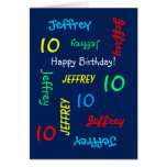 Personalized Greeting Card Any Name, Age, Occasion Cards