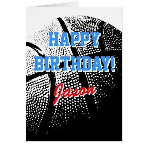 Personalized greeting card | Basketball sports