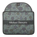 Personalized Grey circles Sleeve For MacBook Pro