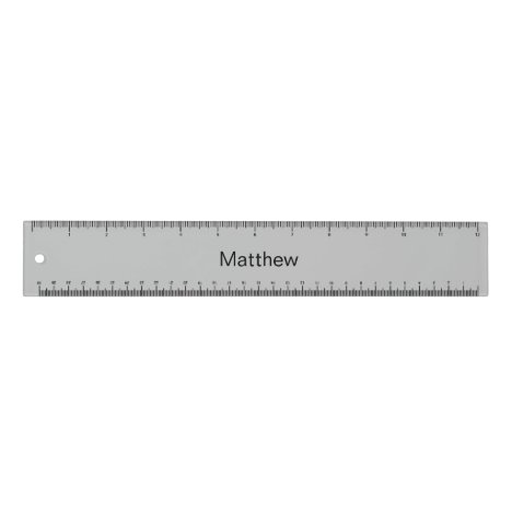 Personalized grey ruler for kids