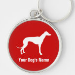 Personalized Greyhound グレイハウンド Keychains
