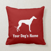 Personalized Greyhound グレイハウンド Throw Pillow