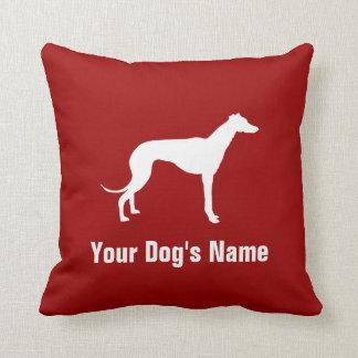 Personalized Greyhound グレイハウンド Throw Pillow