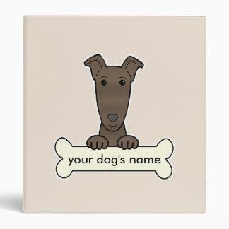 Personalized Greyhound 3 Ring Binder