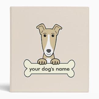 Personalized Greyhound Vinyl Binder