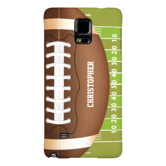 Personalized Grid Iron Football on Field Galaxy Note 4 Case