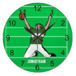 Personalized Grid Iron Footballer Design Clocks