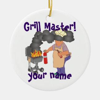 Personalized Grill Master Ceramic Ornament