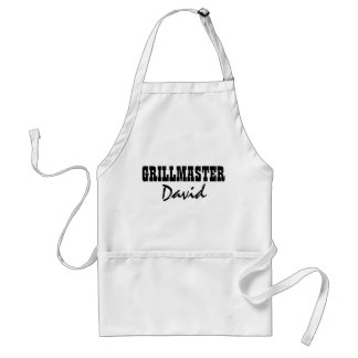 Personalized grillmaster name BBQ aprons for men