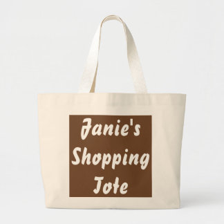 PERSONALIZED GROCERY TOTE JUMBO NATURAL BAGS