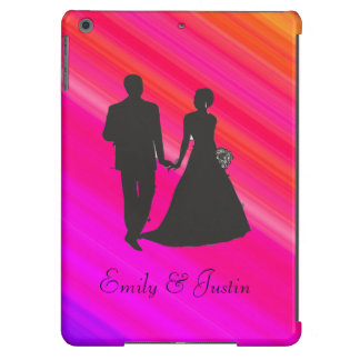 Personalized Groom and Bride iPad air case