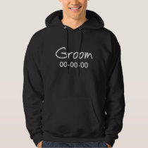 Personalized Groom Black Sweatshirt