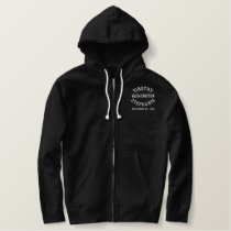 Personalized Groom Embroidered Hooded Sweatshirt