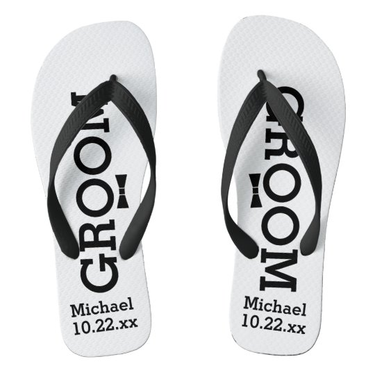 3cc6f3c68dd4 Personalized Groom Wedding - Custom Colors Flip Flops