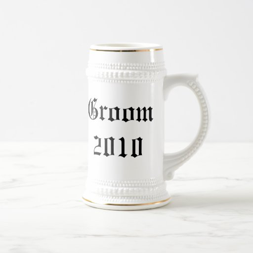 Personalized groom Wedding favor stein Coffee Mug