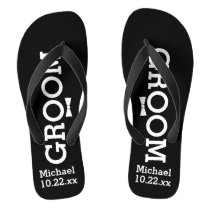 Personalized Groom Wedding - Pick Your Color Flip Flops