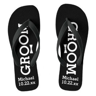 Personalized Groom Wedding - Pick Your Color Flip Flops