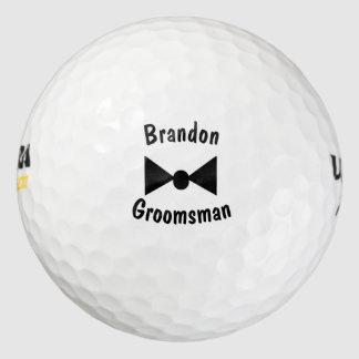 Personalized Groomsman Bowtie Golf Balls