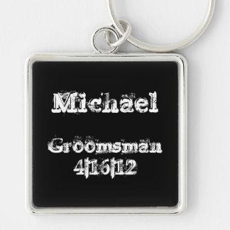 Personalized Groomsman Keychain