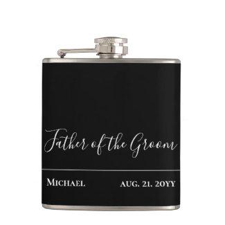 Personalized Groomsmen Father Bride Groom Bestman Flask