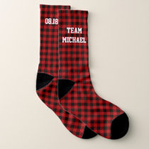 Personalized Groomsmen Socks - Buffalo Plaid