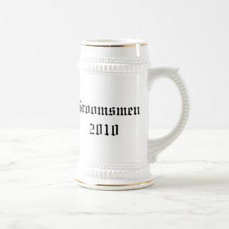 Personalized groomsmen Wedding favor stein 18 Oz Beer Stein
