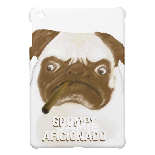 Personalized Grumpy AFICIONADO Puggy Cigar Case For The iPad Mini