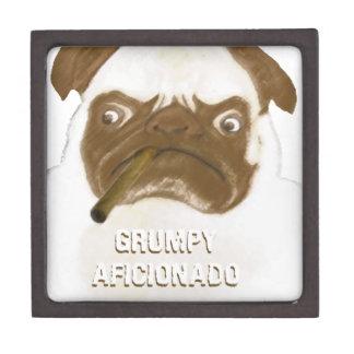 Personalized Grumpy AFICIONADO Puggy Cigar Gift Box