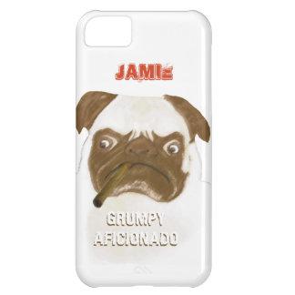Personalized Grumpy AFICIONADO Puggy Cigar iPhone 5C Cover