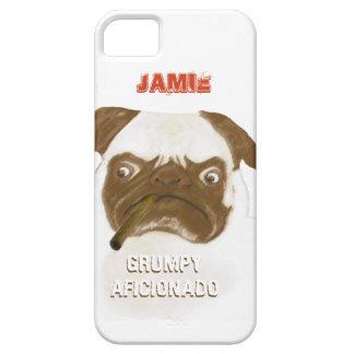 Personalized Grumpy AFICIONADO Puggy Cigar iPhone SE/5/5s Case