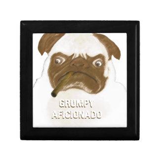 Personalized Grumpy AFICIONADO Puggy Cigar Jewelry Box