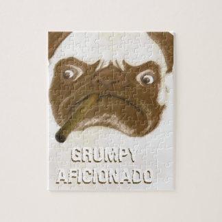 Personalized Grumpy AFICIONADO Puggy Cigar Jigsaw Puzzle