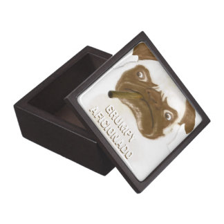 Personalized Grumpy AFICIONADO Puggy Cigar Keepsake Box