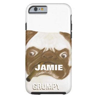 Personalized Grumpy AFICIONADO Puggy Cigar Tough iPhone 6 Case