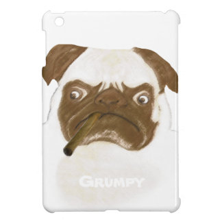 Personalized Grumpy Puggy with Cigar Cover For The iPad Mini