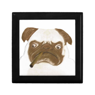 Personalized Grumpy Puggy with Cigar Gift Box