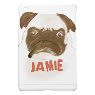 Personalized Grumpy Puggy with Cigar iPad Mini Case