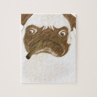 Personalized Grumpy Puggy with Cigar Jigsaw Puzzle