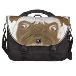 Personalized Grumpy Puggy with Cigar Laptop Computer Bag