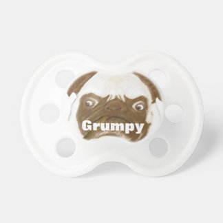 Personalized Grumpy Puggy with Cigar Pacifier