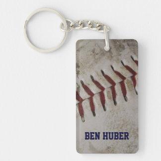 Personalized Grunge Dirty Baseball Key Chain