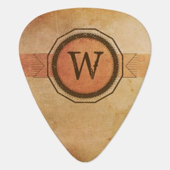 Personalized Grunge Medallion Guitar Pick by OffRecord at Zazzle