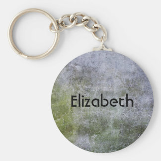 Personalized Grunge Stone Wall Texture Keychain