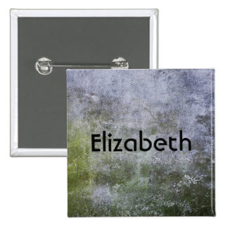 Personalized Grunge Stone Wall Texture Pinback Button