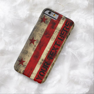 Personalized Grunge Washington DC Flag Barely There iPhone 6 Case
