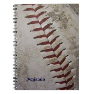 Personalized Grungy Dirty Baseball Spiral Notepad Spiral Notebook